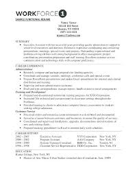 Executive Style Resume Template Functional Format Resume Template Sample Design Free Online