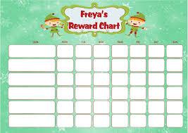 Reward Chart Personalised Christmas Elf Reward Chart