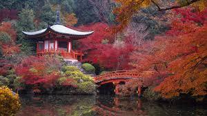 Japan Kyoto Daigo Autumn Landscape wallpapers