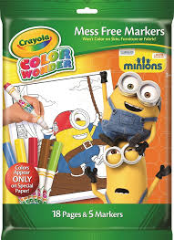 Amazon Com Crayola Color Wonder Ow Markers Minions Toys Games