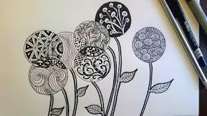 1733x975 zentangle inspired flowers zendoodle art beginner