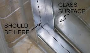 breaking glass shower doors