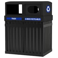 archtec parkview double trash recycling receptacle