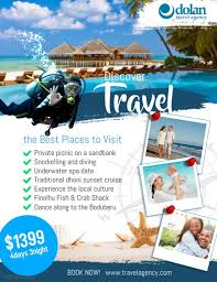 The Flyer Ads Travel Agency Flyer Ads Poster Template Postermywall