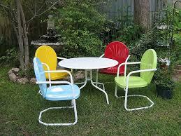 retro metal outdoor furniture. Perfect Furniture Image Of Inspiration Vintage Metal Outdoor Furniture To Retro I