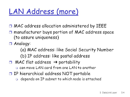 5: DataLink Layer5-1 Mac Addressing, Ethernet, and Interconnections ...