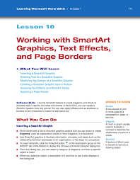 Smart Art Design Word Working With Smartart Graphics Text Effects And Page Borders