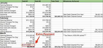 Excel Debt Payoff Template Artolahti Template Design