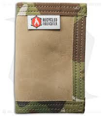 recycled firefighter rookie u s combat boot leather wallet tan green camo