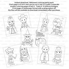 This printable bilingual template makes crafting easier for kids at home or school! Halloween Coloring Party Pack Or Kids Birthday Party Favor Childrens Kids Coloring Pages Activity Pdf Or Jpeg Instant Download