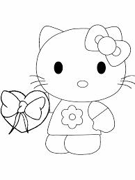 Kids N Fun Kleurplaat Hello Kitty Hello Kitty