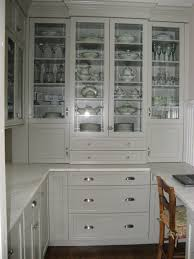 Kitchen Cabinets Corner Pantry White Wooden Pantry Cabinet And Kitchen Island With Brown Rattan