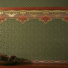 arcadia wallpaper border in forest green