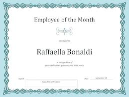 Employee Of The Month Template With Photo Employee Month Certificate Template Of The Powerpoint Award Images