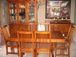 mission style dining room set 9 piece um oak dining room set lighted hutch mission style oak dining room furniture