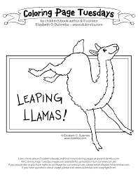 Free Printable Pajama Coloring Pages Sheets Llama Red Page Leaping