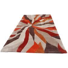 nebula rug in beige terracotta and brown