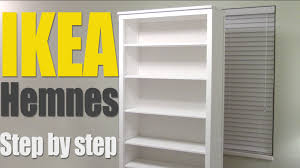 ikea hemnes bookshelf step by step how to assemble 002 456 44 bookcase you