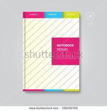 modern sbook or book cover layout background brochure notebook design template