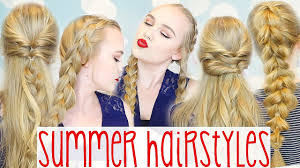 Easy Hairstyles On The Go 5 Easy Cute Go To Summer Hairstyles Youtube
