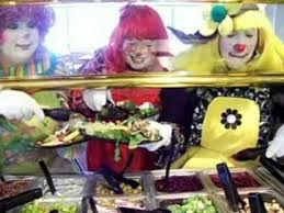 clown s round table pizza commercial