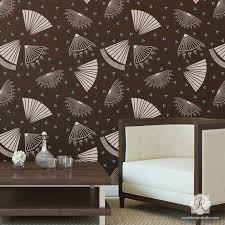 Small Picture Fan Club Wall Stencil Wall stenciling Geometric wall and Walls