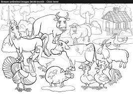 Coloring Book Animals Online With Pages Of Zoo Plus Farm Together