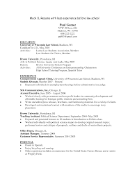 Law School Admissions Resume Template Graduate Cv Sample Pre Student