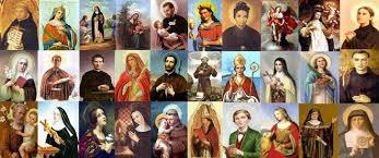 nombre de santos de la iglesia catolica