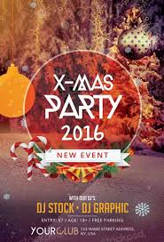 Free Download X Mas Party Free Psd Flyer Template Flyershitter Com