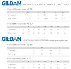 Gildan T Shirts Size Chart For Youth Size Chart If I Maye