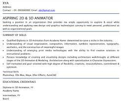 2d 3d Animator Professional Resume Samples