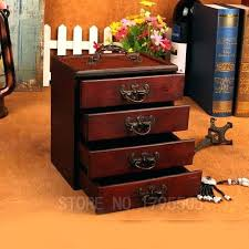 wooden makeup organizer with drawers vintage storage box jewelry wood organi