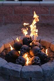 these are the myard deluxe imitated human skull logs for use in natural gas or liquid propane fireplaces pits each skull is made from heat tolerant ceramic