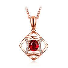 cina ruby and diamond pendant necklace authentic ruby necklace untuk perhiasan wanita pemasok