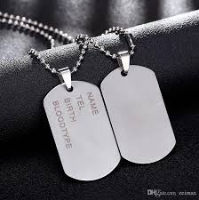 whole new brand link chain man necklace military army dog tags men s stainless steel pendant necklaces jewelry gift choker whole heart necklaces