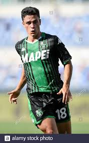 Rome, Italy. 11th July, 2020. Giacomo Raspadori of Sassuolo during the  Serie A match between Lazio and Sassuolo at Stadio Olimpico, Rome, Italy on  11 July 2020. Photo by Giuseppe Maffia. Credit: