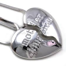 details about mothers day gift mom mother daughter heart pendant necklace charm silver tone