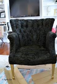furniture fabric paintHow to Paint Upholstery FabricBlack Velvet Chair  11 Magnolia Lane