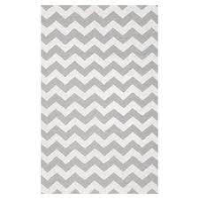 chevron rug 5x8 gray