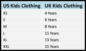 Us Uk Clothing And Shoe Size Conversion Chart