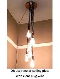 chandelier plug in chandeliers home improvement with hanging light outdoor plu chandelier plug