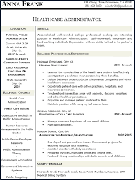 healthcare resume sample healthcare administration resume samples from healthcare resume