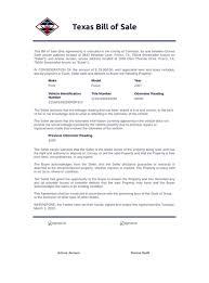 texas bill of pdf templates