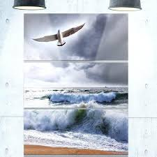 metal beach large seagull over stormy waves modern beach metal wall at beach umbrella metal wall on beach umbrella metal wall art with metal beach 2happywheels fo