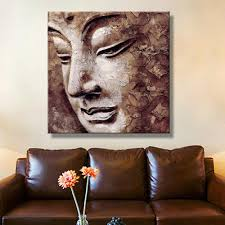 bed bath and beyond 3d wall art for most recent beautiful inspiration buddha wall art canvas