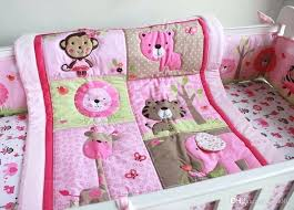 elephant baby bedding set pure cotton baby girl crib bedding set embroidery monkey erfly lion elephant