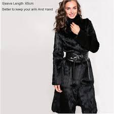 women fur coat 2016 x long natural rabbit fur coats thick long fur coat long sleeve real fur coat plus size