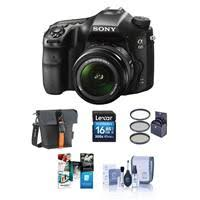 sony digital slr camera. a68 digital slr camera with 18-55mm f/3.5-5.6 dt s sony slr