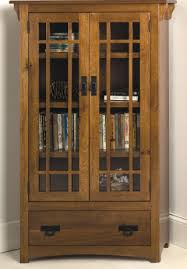 bookcase with doors. Picture Of Mission Bookcase With Drawer And Wood Framed Glass Doors A